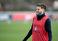 Adam Lallana of England during the England National Team Training ahead of the international friendly match with Italy at Tottenham Hotspur Training Ground, Hotspur Way, England on 26 March 2018. Photo by Vince  Mignott.