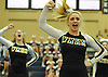 The Ward Melville varsity cheerleading squad performs during an eight-team competition held at Bethpage High School on Sunday, Jan. 22, 2017.