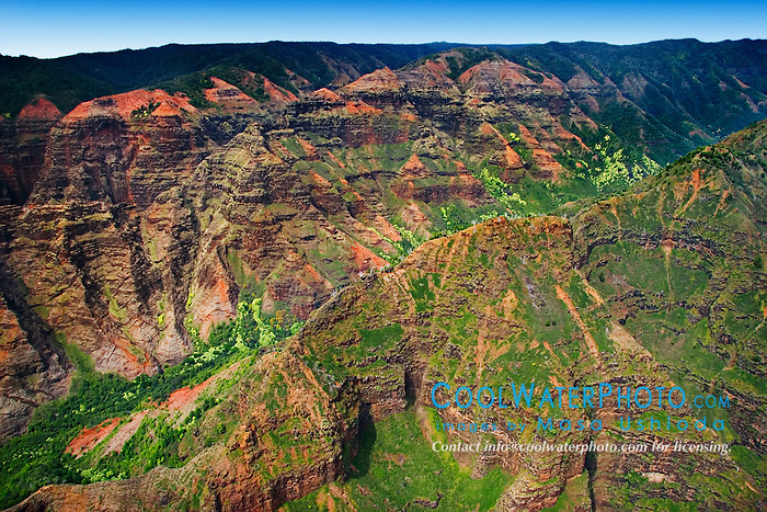 Waimea Canyon, Kauai, Hawaii, Pacific Ocean