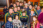 Celebrations in Cahersiveen as the Bishop Moynihan Cup returns to South Kerry on Sunday pictured here in the Kerry Coast Hotel with the team and supporters.