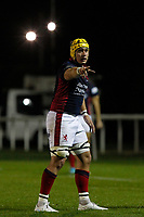 James Tyas of London Scottish during the Championship Cup match between London Scottish Football Club and Yorkshire Carnegie at Richmond Athletic Ground, Richmond, United Kingdom on 4 October 2019. Photo by Carlton Myrie / PRiME Media Images