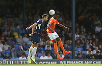 Blackpool's Armand Gnanduillet and Southend United's Harry Lennon<br /> <br /> Photographer Rob Newell/CameraSport<br /> <br /> The EFL Sky Bet Championship - Southend United v Blackpool - Saturday 10th August 2019 - Roots Hall - Southend<br /> <br /> World Copyright © 2019 CameraSport. All rights reserved. 43 Linden Ave. Countesthorpe. Leicester. England. LE8 5PG - Tel: +44 (0) 116 277 4147 - admin@camerasport.com - www.camerasport.com