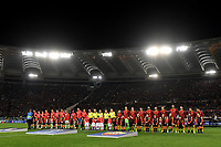 Teams lines up ahead the Uefa Champions League 2018/2019 Group G football match between AS Roma and Real Madrid atOlimpico stadium , Rome, November, 27, 2018 <br />  Foto Andrea Staccioli / Insidefoto