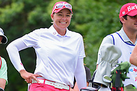 Katherine Kirk (AUS) shares a laugh on the 18th tee during round 3 of  the Volunteers of America Texas Shootout Presented by JTBC, at the Las Colinas Country Club in Irving, Texas, USA. 4/29/2017.<br /> Picture: Golffile | Ken Murray<br /> <br /> <br /> All photo usage must carry mandatory copyright credit (&copy; Golffile | Ken Murray)