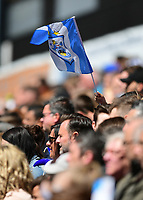 A Huddersfield Town fans waves a club flag<br /> <br /> Photographer Chris Vaughan/CameraSport<br /> <br /> The EFL Sky Bet Championship Play-Off Semi Final First Leg - Huddersfield Town v Sheffield Wednesday - Saturday 13th May 2017 - The John Smith's Stadium - Huddersfield<br /> <br /> World Copyright &copy; 2017 CameraSport. All rights reserved. 43 Linden Ave. Countesthorpe. Leicester. England. LE8 5PG - Tel: +44 (0) 116 277 4147 - admin@camerasport.com - www.camerasport.com
