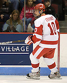 Corey Trivino (BU - 10) - The Boston University Terriers defeated the visiting Providence College Friars 2-1 on Saturday, October 23, 2010, at Agganis Arena in Boston, Massachusetts.