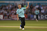 Sam Curran of Surrey claims the wicket of Ryan ten Doeschate during Essex Eagles vs Surrey, NatWest T20 Blast Cricket at The Cloudfm County Ground on 7th July 2017