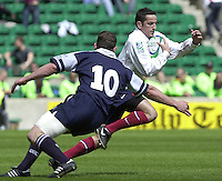 25/05/2002 (Saturday).Sport -Rugby Union - London Sevens.Scotland vs France.Fredric Lartigue[Mandatory Credit, Peter Spurier/ Intersport Images].