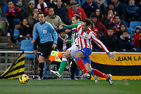 03.02.2013 SPAIN -  La Liga 12/13 Matchday 22th  match played between Atletico de Madrid vs Real Betis Balompie (1-0) at Vicente Calderon stadium. The picture show  Juan Francisco Torres (Spanish midfielder of At. Madrid)