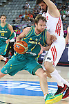 07.09.2014. Barcelona, Spain. 2014 FIBA Basketball World Cup, round of 16. Picture show B. Newley in action during game between Turkey   v Australia at Palau St. Jordi