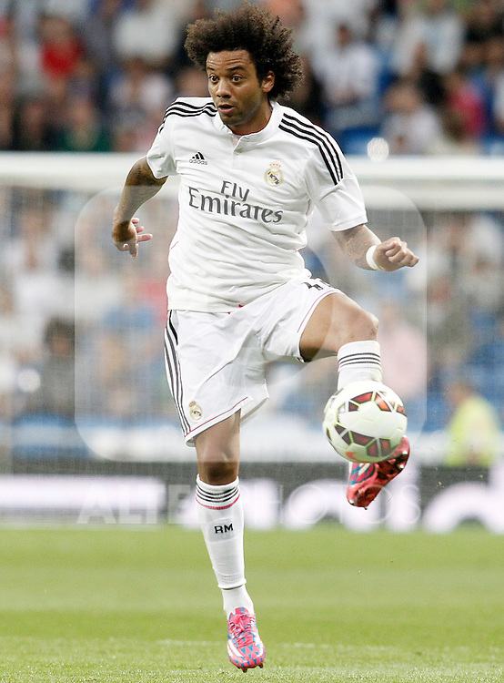 Real Madrid's Marcelo Vieira during La Liga match.September 23,2014. (ALTERPHOTOS/Acero)