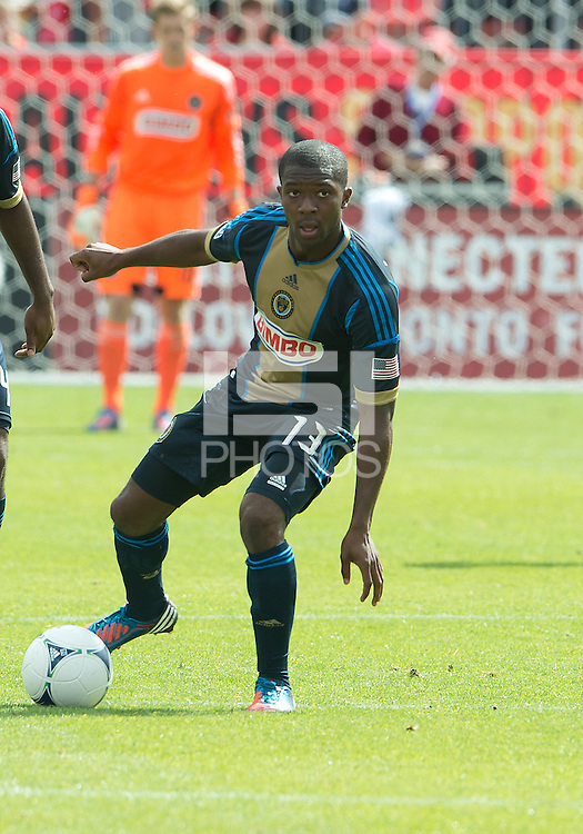 15 September 2012: Philadelphia Union midfielder Michael Lahoud #13 in action during an MLS game between the Philadelphia Union and Toronto FC at BMO Field in Toronto, Ontario..The game ended in a 1-1 draw..
