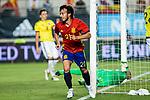 David Jimenez Silva os Spain celebrates after scoring a goal during the friendly match between Spain and Colombia at Nueva Condomina Stadium in Murcia, jun 07, 2017. Spain. (ALTERPHOTOS/Rodrigo Jimenez)