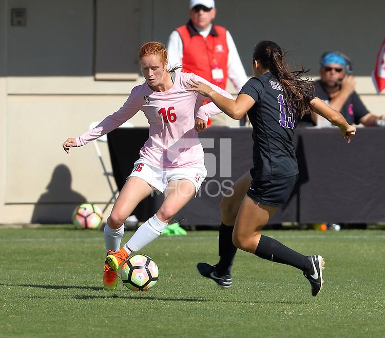STANFORD, CA; October 2, 2016; Women's Soccer, Stanford vs Washington.