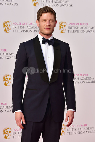 LONDON, ENGLAND - MAY 08: James Norton at he British Academy (BAFTA) Television Awards 2016, Royal Festival Hall, Belvedere Road, London, England, UK, on Sunday 08 May 2016.<br /> CAP/JOR<br /> &copy;JOR/Capital Pictures /MediaPunch ***NORTH AMERICA AND SOUTH AMERICA ONLY***