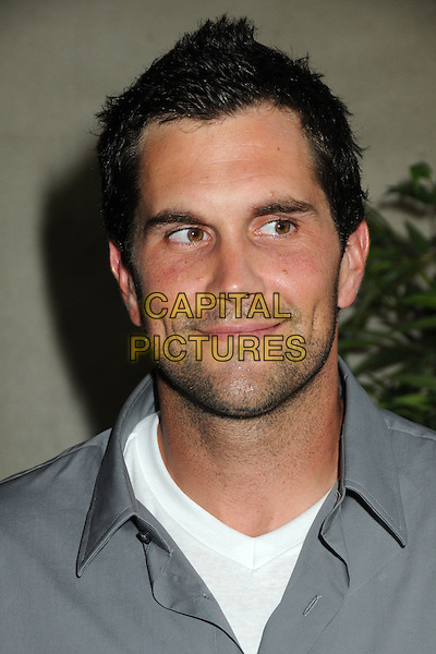 "MATT LEINART.Matt Leinart's 4th Annual ""Bowling With The Stars"" Event held at Lucky Strike Lanes, Hollywood, California, USA..July 15th, 2010.headshot portrait facial hair stubble grey gray.CAP/ADM/BP.©Byron Purvis/AdMedia/Capital Pictures."