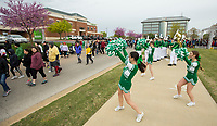 NWA Democrat-Gazette/BEN GOFF @NWABENGOFF<br /> The Wrigley's Extra Refreshers band plays as walkers start their 1.5 mile stroll Saturday, April 13, 2019, during the Northwest Arkansas Heart Walk starting from the Walmart Arkansas Music Pavilion in Rogers. This year is the 25th anniversary for the American Heart Association's annual walk with locations around the country. This year's Northwest Arkansas walk raised more than $1 million with donations still coming in as of Saturday morning, said to Lauren Wheeler with the American Heart Association Northwest Arkansas.
