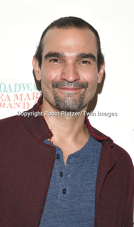 Javier Munoz attends the Broadway Cares/Equity Fights Aids Flea Market and Grand Auction on September 25, 2016 at the Music Box Theatre and in Shubert Ally in New York, New York, USA. <br /> <br /> photo by Robin Platzer/Twin Images<br />  <br /> phone number 212-935-0770