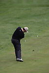 Padraig Harrington takes his 2nd shot on the 4th hole during the 3rd round of the BMW PGA Championship at Wentworth Club, Surrey, England 26th may 2007 (Photo by Eoin Clarke/NEWSFILE)