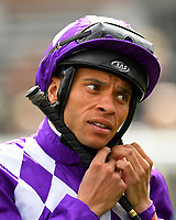 Jockey Sean Levey during Racing at Newbury Racecourse on 12th April 2019