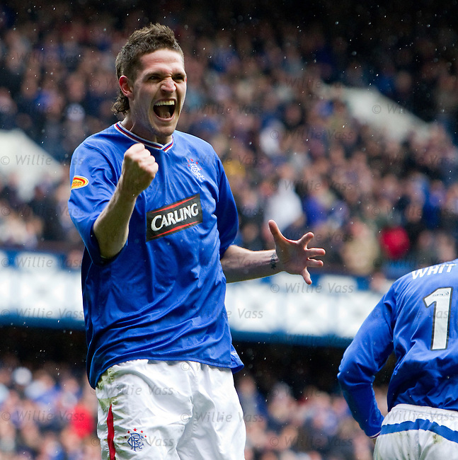 Kyle Lafferty celebrates his goal
