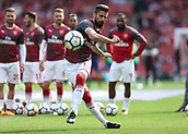9th September 2017, Emirates Stadium, London, England; EPL Premier League Football, Arsenal versus Bournemouth; Olivier Giroud of Arsenal during shooting practice before kick off