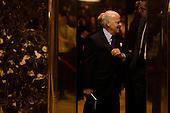 Henry Kravis (co-founder of KKR) arrives at Trump Tower in Manhattan, New York, U.S., on Thursday, January 12, 2017.<br /> Credit: John Taggart / Pool via CNP