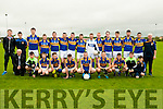Cordal Team: Front row (left/right) : Jimmy Roche (Manager/Trainer), T.J O'Connor, Mike Flynn,Flor Griffin,Jack McAuliffe, John Brosnan (Captain) Dean Poolman,Philip O'Connor and Philip O'Connor.<br /> Back row (left /right) : Jack Flynn, Padraig Brosnan, Donal McCarthy, John Mannix,Gearoid O'Leary,Billy Cronin,Padraig O'Connell, Micheal Cahill, Sean &Oacute;g O'Ciardubh&aacute;in, Pa Naughton, Padraig Brosnan, Jason Cronin,David O'Leary, Brian Reidy and Maurice Costello (Selector)