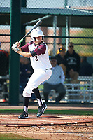 Joe J.C. Dyer (2) of Desert Ridge High School in Mesa, Arizona during the Under Armour All-American Pre-Season Tournament presented by Baseball Factory on January 14, 2017 at Sloan Park in Mesa, Arizona.  (Art Foxall/MJP/Four Seam Images)