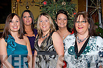 HOSPITAL: Staff from the Surgial department Kerry General out for dinner in The Grand Hotel, Tralee on Friday night.. l-r: Fiona Kelly, Claire Stacey, Michelle Cunniffe, Norma Cullinan and Emer Murphy...........   Copyright Kerry's Eye 2008