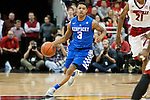 Guard Tyler Ulis of the Kentucky Wildcats drives down the court during the game against  the Louisville Cardinals at KFC Yum! Center on Saturday, December 27, 2014 in Louisville `, Ky. Kentucky defeated Louisville 58-50. Photo by Michael Reaves | Staff