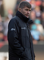 Exeter Chiefs' Head Coach Rob Baxter<br /> <br /> Photographer Bob Bradford/CameraSport<br /> <br /> Gallagher Premiership Round 7 - Bristol Bears v Exeter Chiefs - Sunday 18th November 2018 - Ashton Gate - Bristol<br /> <br /> World Copyright © 2018 CameraSport. All rights reserved. 43 Linden Ave. Countesthorpe. Leicester. England. LE8 5PG - Tel: +44 (0) 116 277 4147 - admin@camerasport.com - www.camerasport.com