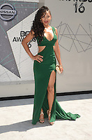 LOS ANGELES, CA - JUNE 26: Meagan Good at the 2016 BET Awards at the Microsoft Theater on June 26, 2016 in Los Angeles, California. Credit: David Edwards/MediaPunch