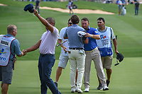Graeme McDowell (NIR) shakes hands on 18 following day 3 of the Valero Texas Open, at the TPC San Antonio Oaks Course, San Antonio, Texas, USA. 4/6/2019.<br /> Picture: Golffile | Ken Murray<br /> <br /> <br /> All photo usage must carry mandatory copyright credit (&copy; Golffile | Ken Murray)
