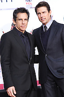 HOLLYWOOD, CA - DECEMBER 03: Ben Stiller, Tom Cruise attending the Ben Stiller Hand/Footprint Ceremony held at TCL Chinese Theatre on December 3, 2013 in Hollywood, California. (Photo by David Acosta/Celebrity Monitor)