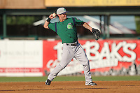 Beloit Snappers shortstop Tyler Grimes #11 throws during a game against the Kane County Cougars at Fifth Third Bank Ballpark on June 26, 2012 in Geneva, Illinois. Beloit defeated Kane County 8-0. (Brace Hemmelgarn/Four Seam Images)