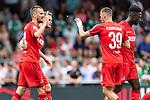20.07.2019, Heinz-Dettmer-Stadion, Lohne, GER, Interwetten Cup, VfL Osnabrueck vs 1. FC Koeln<br /><br />im Bild<br />Jubel 0:2, Dominick Drexler (Koeln #24) bejubelt seinen Treffer zum 0:2 mit Benno Schmitz (Neuzugang Koeln #02), Darko Churlinov (Koeln #39), <br /><br />Foto © nordphoto / Ewert