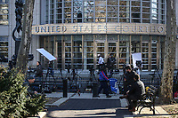 NEW YORK, NY - FEBRUARY 04: Exterior view of the US Federal Courthouse during the trial of  Mexican Joaquin 'El Chapo' Guzman on  February 4, 2019 in Brooklyn, New York. (Photo by Kena Betancur/VIEWpress)