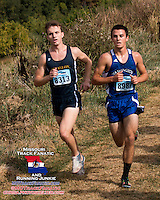 O' Fallon Township's Steven Chorma 12th, Wshington's Travis Elbert 25th, 2013 Parkway West XC Invitational.