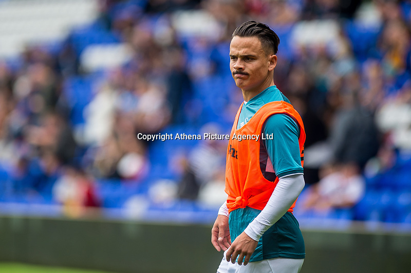 dRoque Mesa of Swansea City warms up uring the Pre-season friendly match between Birmingham City and Swansea City at St Andrew's Stadium, Birmingham, England, UK. 29 July 2017