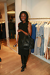 Journalist Lolo Ogunnaike attends an exclusive elegant evening of fashion and design through Shop for a Cause highlighting art and fashion from local emerging Haitian artisans Hosted by Designer, Tracy Reese, JRT Multimedia, CEO Jocelyn Taylor and BACARDI USA at the Tracy Reese Flagship Store 1/26/11<br />