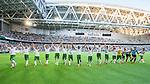 Stockholm 2014-07-20 Fotboll Superettan Hammarby IF - &Ouml;sters IF :  <br /> Hammarbys spelare jublar Hammarbys supportrar efter matchen<br /> (Foto: Kenta J&ouml;nsson) Nyckelord:  Superettan Tele2 Arena Hammarby HIF Bajen &Ouml;ster &Ouml;IF jubel gl&auml;dje lycka glad happy inomhus interi&ouml;r interior