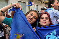 Anhänger  der Bruderschaft Paso Azul  bei  der Semana Santa (Karwoche) in Lorca,  Provinz Murcia, Spanien, Europa