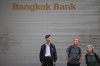 An exterior shot of the Bangkok Bank, Central district, Hong Kong, China, 28 April 2014.
