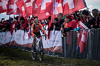 Shirin Van Anrooij (NED) solo to victory in the first ever organized Women's Junior World Championships race. <br /> <br /> Women's Junior race<br /> UCI 2020 Cyclocross World Championships<br /> Dübendorf / Switzerland<br /> <br /> ©kramon