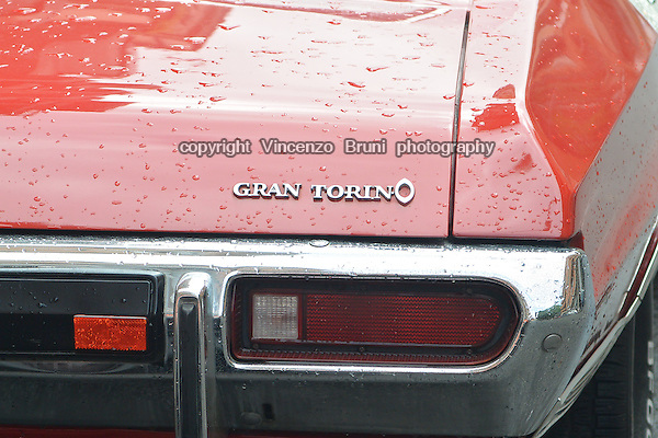 Backside view of a 1970's Ford Gran Torino.
