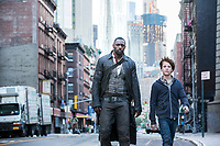 The Dark Tower (2017) <br /> Roland (Idris Elba) and Jake (Tom Taylor) in  New York<br /> *Filmstill - Editorial Use Only*<br /> CAP/KFS<br /> Image supplied by Capital Pictures