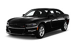 2018 Dodge Charger SXT 4 Door Sedan angular front stock photos of front three quarter view