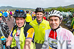 Graham Kelliher, Banna, James Slade, Tralee and Conor Freeman at the Ring of Kerry cycle on Saturday.