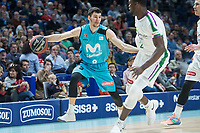 Movistar Estudiantes Dario Brizuela and Unicaja Malaga  Viny Okouo during Liga Endesa match between Movistar Estudiantes and Unicaja Malaga at Wizink Center in Madrid , Spain. March 04, 2018. (ALTERPHOTOS/Borja B.Hojas) /NortePhoto.com NORTEPHOTOMEXICO